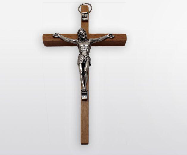 Crucifix en bois PEAR 15cm avec accroche
